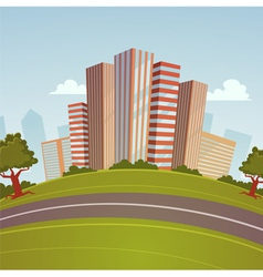 Cartoon Cityscape vector