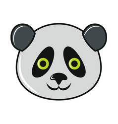 cartoon panda icon on white background vector image