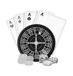 casino single icon in monochrome stylecasino vector image