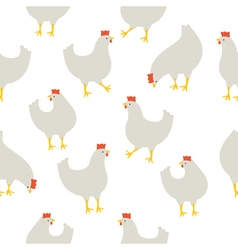 Chicken pattern white vector image