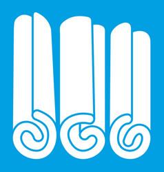 Cinnamon sticks icon white vector
