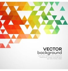 Color geometric background with triangles vector image