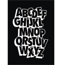 Comic style font type alphabet vector