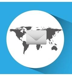 concept globe message envelope social media vector image