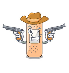 Cowboy sticking plaster on the cartoon shape vector