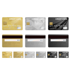 Credit cards set isolated vector