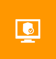 Cyber security icon vector