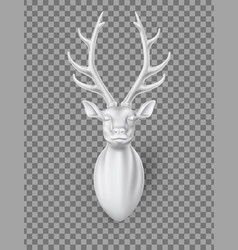 deer with horns 3d sculpture vector image