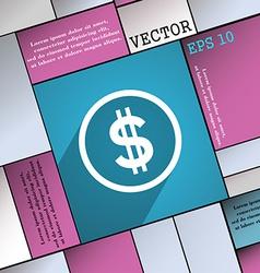 Dollar icon symbol Flat modern web design with vector image