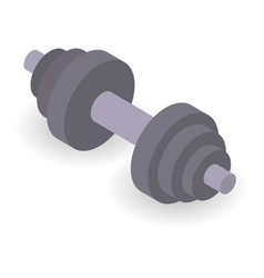 Dumbbell icon isometric style vector