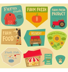 Farm Stickers Set vector image