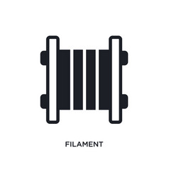 Filament isolated icon simple element from vector