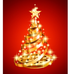 Film Strip Christmas Tree vector image