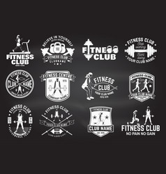 Fitness club badges for fitness centers vector