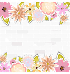 floral template for cardweddingparty invitation vector image