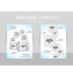 Flyer template design vector