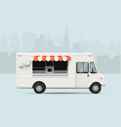 Food truck flat styled vector
