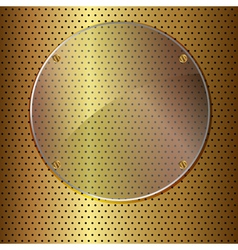 gold and glass circle vector image