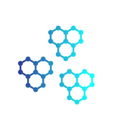 graphene structures vector image