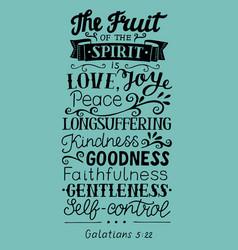 Hand lettering fruit spirit vector