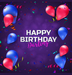 happy birthday greeting card or banner with vector image