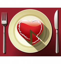 heart slice vector image