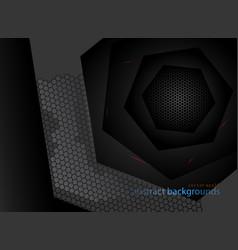 Hexagonal metal shapes colors vector