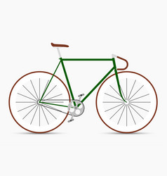 hipster single speed bike in green and brown vector image