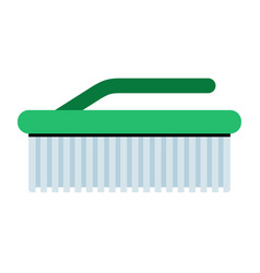 home cleaning brush icon flat isolated vector image
