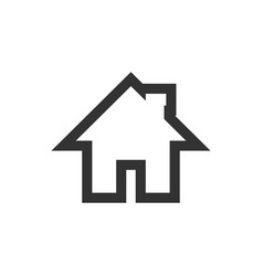 home icon graphic design template vector image