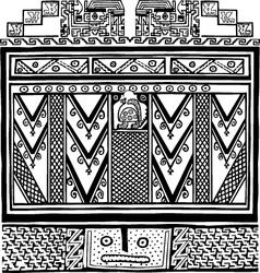 Inca iconography vector