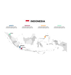 indonesia map infographic template slide vector image