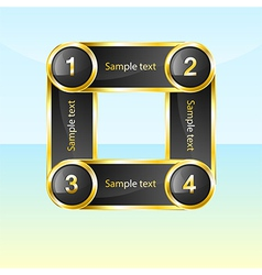 Kvadro Gold vector image