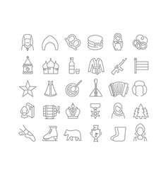 line icons day russia vector image
