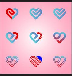 logo icon love vector image