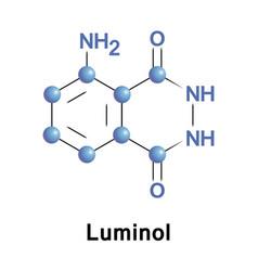 luminol chemical chemiluminescence vector image