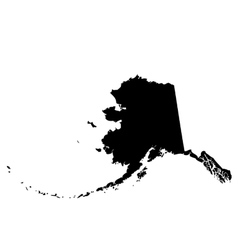 Map of the US state Alaska vector