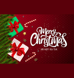 merry chirstmas and happy new year vector image
