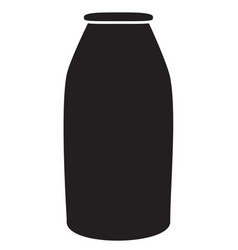 milk bottle icon on white background milk bottle vector image