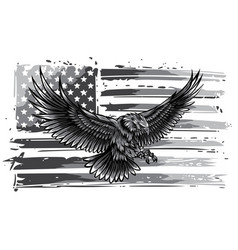 Monochromatic american eagle vector
