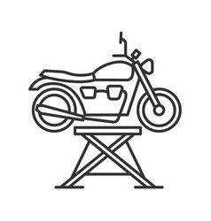 motorbike jack linear icon vector image