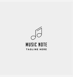 music symbol logo element simple icon line vector image