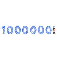 Network 1000000 digits text mesh vector