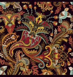 paisley pattern indian ornament vector image