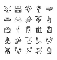 Pakistani civilization icons vector