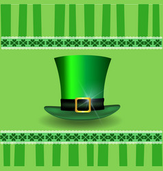 patricks day card with shamrocks lace and vector image