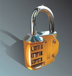 Photo-realistic padlock vector
