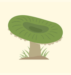 Poisonous green mushroom nature food vegetarian vector