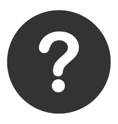 Question flat white and gray colors round button vector