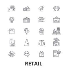 Retail shopping mall consumerism sales shop vector